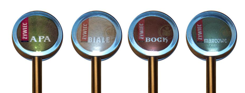 medaliony z logo