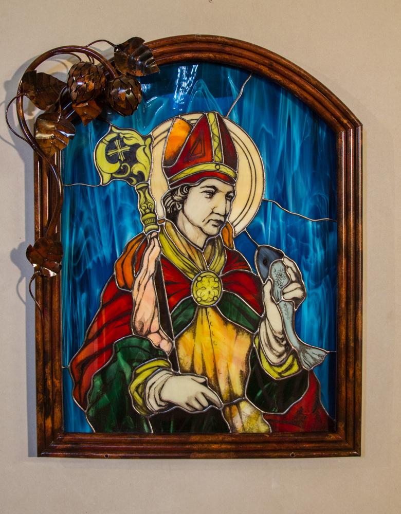 witraż św. Arnulf, patron piwowarów (60 z 1)
